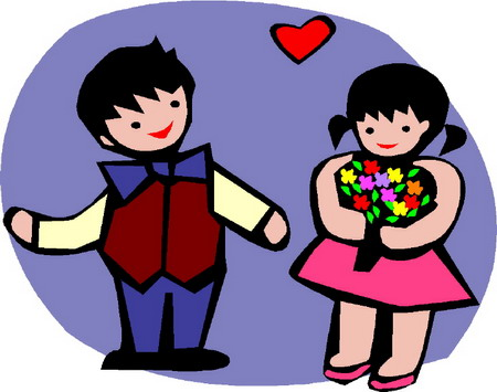 Cartoon Girl And Boy Fighting. Hot Girl