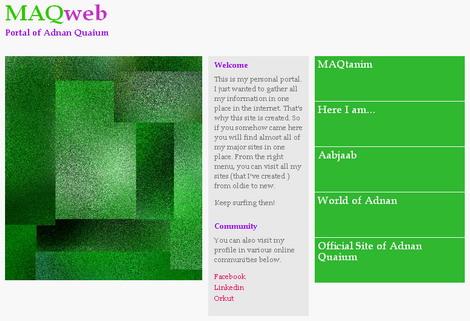 My web portal